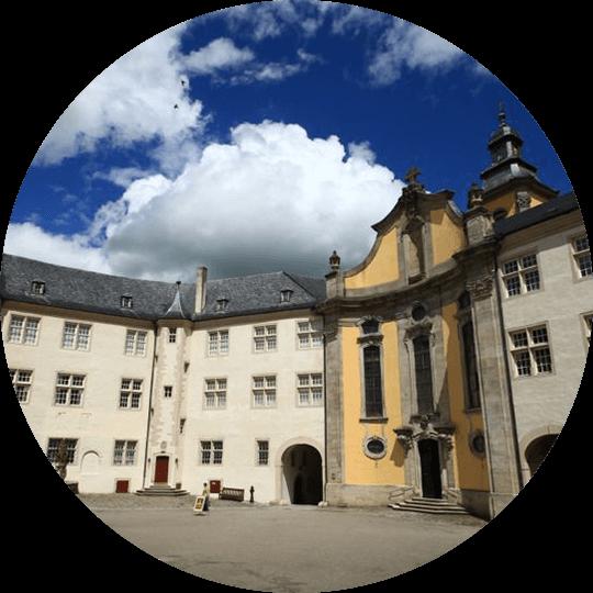 Außenansicht vom Deutschordensmuseum in Bad Mergentheim