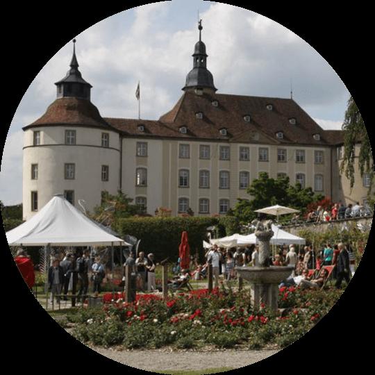 Außenansicht auf das Schloss Langenburg und Schlossanlage