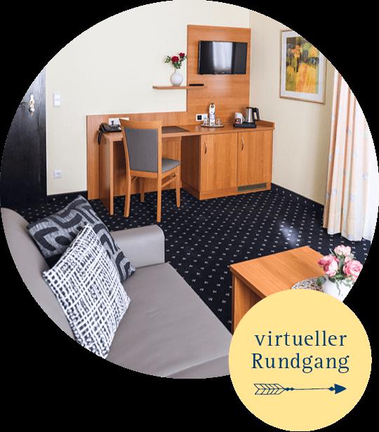 Gemütliches, modern eingerichtes Zimmer in der Innenansicht