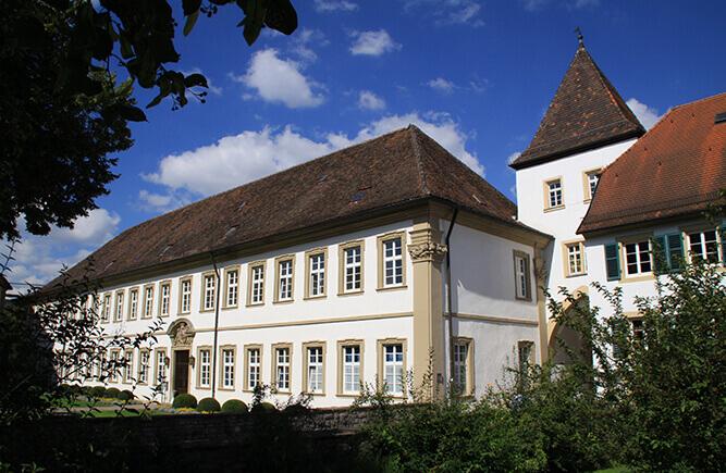 Gebäude im Innenhof des Deutschordensschloss Bad Mergentheim.