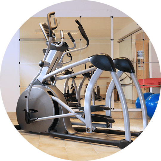 Elliptical Crosstrainer im Fitnessraum des Hotel Alexa in Bad Mergentheim