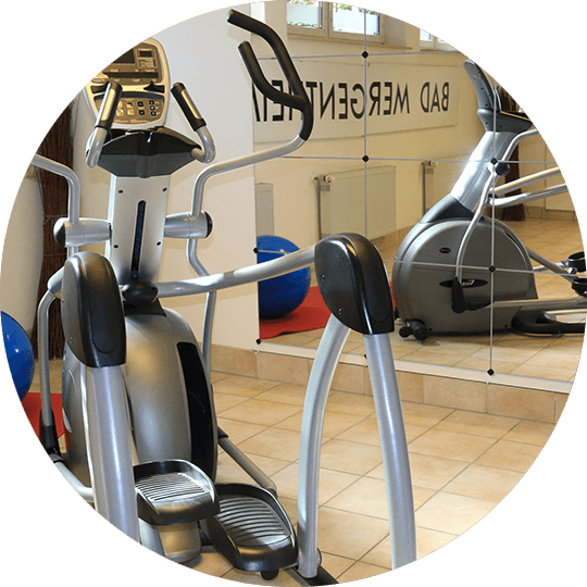 Elliptical crosstrainer in the gym of the Hotel Alexa Bad Mergentheim