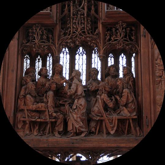 Mitteltafel des Heiligen Blutes Altar von Tilman Riemenschneider in der St. Jakobskirche in Rothenburg ob der Tauber